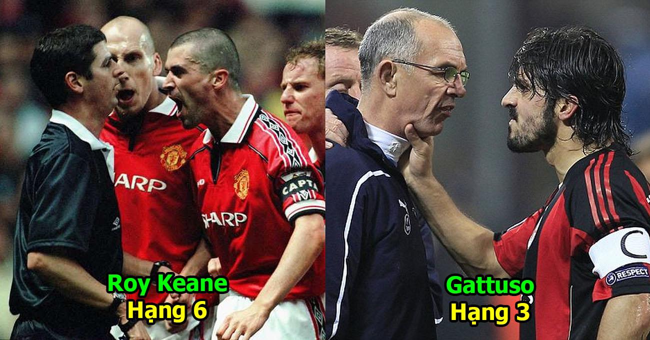 """Top 10 nhân vật đáng sợ nhất làng bóng đá thế giới: """"Hổ báo"""" như Gattuso cũng chỉ xếp thứ 3, Pepe vẫn còn hiền chán!"""