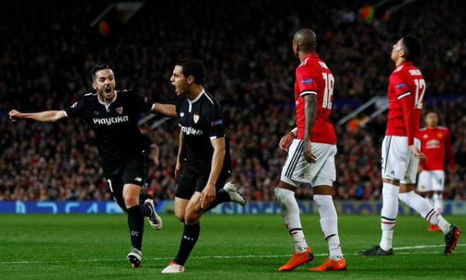Dàn sao triệu đô gây thất vọng, MU bị Sevilla đá bay khỏi Champions League ngay tại đất Anh