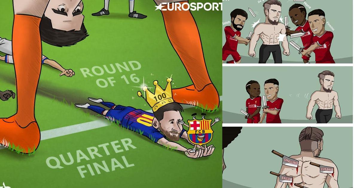 """Chùm ảnh chế: Messi """"thông háng"""" Courtois, De Gea ăn """"tỏi"""" của đồng đội khiến cả thế giới cười vỡ bụng"""