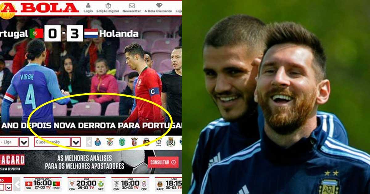 Thảm bại nhục nhã trước Hà Lan yếu nhất trong lịch sử, báo chí thế giới dội cơn mưa mỉa mai về phía Ronaldo