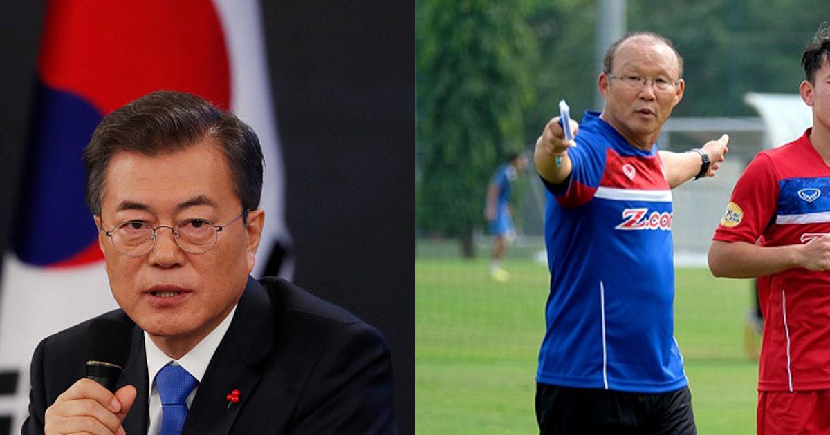 Nổi tiếng tại Hàn Quốc sau chiến công với U23 Việt Nam, HLV Park Hang Seo nhận được vinh dự đặc biệt từ Tổng thống Hàn Quốc