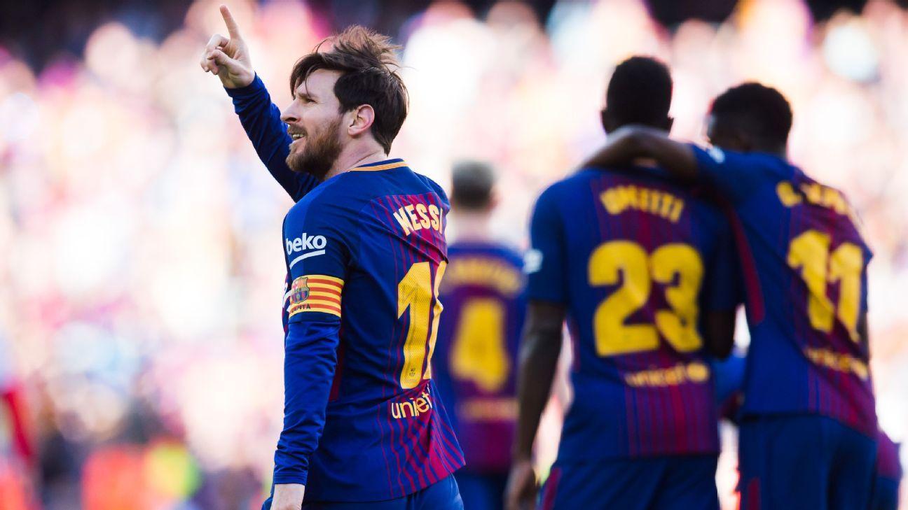 """Thiên tài Messi ra chân""""điện xẹt"""", Barca xuyên thủng hàng phòng ngự kiên cố của Bilbao tiến sát đến ngôi vương"""