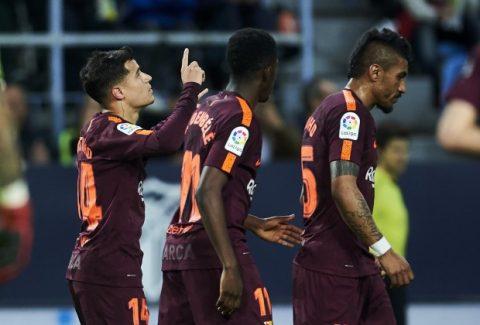 Bom tấn Coutinho rực sáng, Barcelona dễ dàng đánh bại Malaga trong ngày vắng Messi