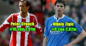 Top 10 cầu thủ có chiều cao kinh khủng nhất thế giới: Sếu vườn Crouch chỉ được xếp bét bảng!