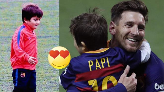 VIDEO: Con trai Messi solo đỉnh như ông bố khiến cả thế giới bấn loạn