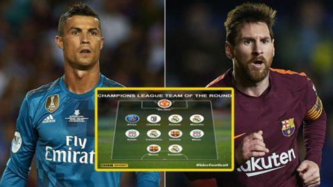 Đội hình tiêu biểu vòng 1/8 Champions League: Vinh danh 2 siêu sao hàng đầu thế giới