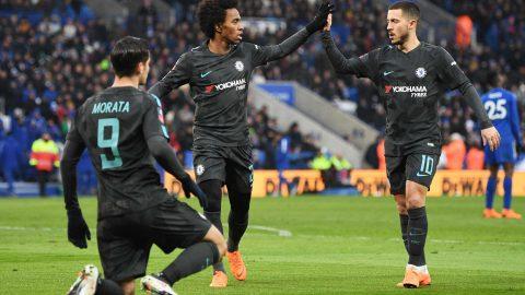 Morata nổ súng sau 3 tháng im hơi lặng tiếng, Chelsea vượt ải Leicester sau 120 phút đầy kịch tính, giật vé vào bán kết FA Cup