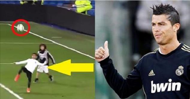 """Cậu cả nhà Ronaldo phô diễn tuyệt kỹ """"xe đạp chổng ngược"""" khiến con trai Marcelo há hốc mồm"""
