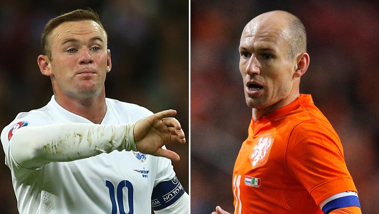 Robben, Rooney và những cầu thủ tài năng tỉ lệ nghịch với… mái tóc, kéo đến người số 9 chỉ muốn khóc thét