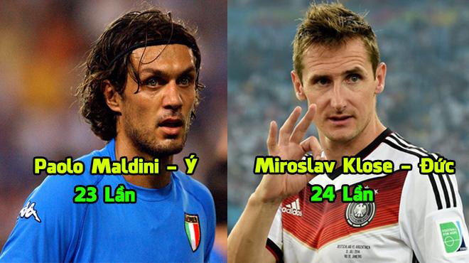 """Top 10 cầu thủ khiến cả thế giới """"phát ngán"""" vì góp mặt tại World Cup quá nhiều: Vô địch nhiều thế bảo sao người Đức chiếm hơn một nửa!"""