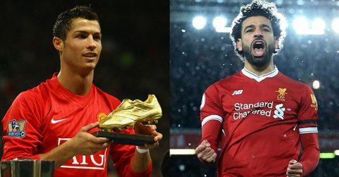 """Salah """"nuốt trọn"""" siêu kỷ lục 6 năm thi đấu cho MU của Ronaldo chỉ sau 1 mùa ở Liverpool"""