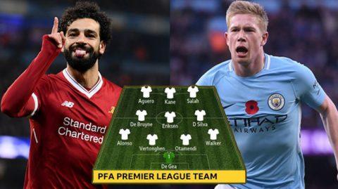 Đội hình hay nhất Premier League mùa giải 2017/18: MU vớt vát được 1 cái tên!