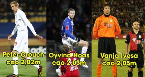 """Top 10 cầu thủ bóng đá cao nhất thế giới, cầu thủ """"Tàu khựa"""" cân cả thế giới"""