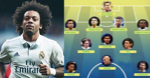 """Marcelo đích thân chọn ra đội hình trong mơ vô địch thiên hạ: 2 cầu thủ Barca """"lọt thỏm"""" giữa rừng Real"""