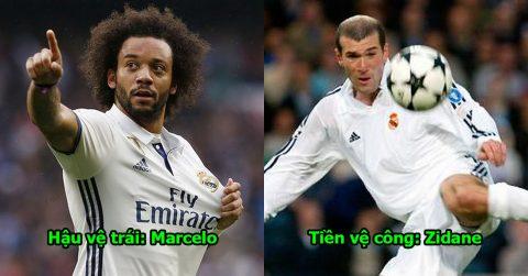 """Đội hình vĩ đại nhất lịch sử Real Madrid: Marcelo đánh bật đàn anh Carlos, Rô béo mất suất vào tay """"siêu nhân"""" này"""
