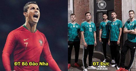 Công bố 32 mẫu áo đấu chính thức tại World Cup 2018: Đức, Brazil chất phát ngất, TBN điệu đà quá mức