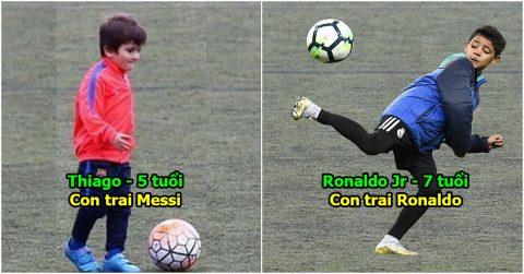 10 chú nhóc sở hữu tài năng thiên bẩm hứa hẹn soán ngôi cha mình: Ngóng chờ cặp kì phùng Thiago – Ronaldo Jr