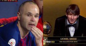 8 năm sau ngày cướp Quả bóng Vàng của Iniesta trao cho Messi, BTC mới lên tiếng xin lỗi khiến cả TG căm phẫn