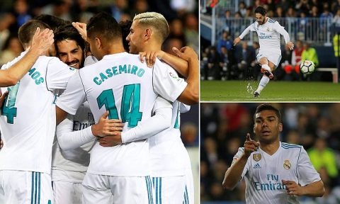 Kết quả Malaga vs Real Madrid: Sút phạt hảo hạng, phô diễn đẳng cấp