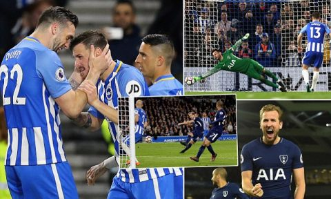 Kết quả Brighton vs Tottenham: 2 phút điên rồ, phạt đền cay đắng
