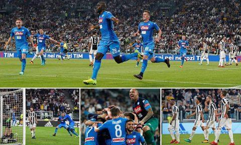 Bị Napoli kết liễu tại sân nhà, Juventus có nguy cơ lớn mất ngôi vô địch