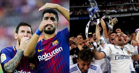 """Vừa đoạt cúp Nhà vua, một loạt sao Barca đã quay ra chế giễu Real khiến fan """"Kền kền trắng"""" nổi điên"""