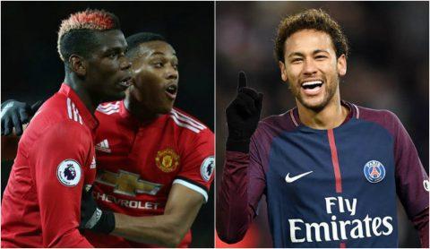 """MU tính """"chơi kèo"""" Sốc nhất từ trước tới giờ: Neymar = Pogba + Martial"""
