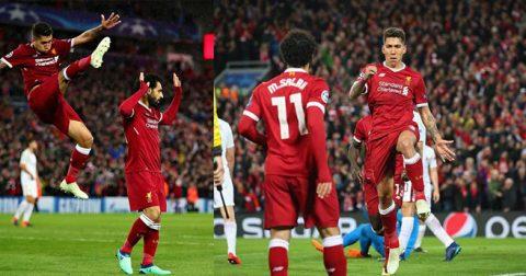 CHÙM ẢNH: Tam tấu S-M-F gieo ác mộng kinh hoàng cho Roma tại Anfield