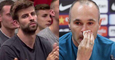 CẬN CẢNH gương mặt đẫm lệ của Iniesta trong ngày chia tay Barca, nhìn phản ứng của Pique mà đau lòng!
