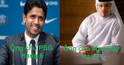 Top 6 ông trùm quyền lực nhất làng túc cầu: Giàu có như ông chủ PSG cũng chỉ đứng thứ 6