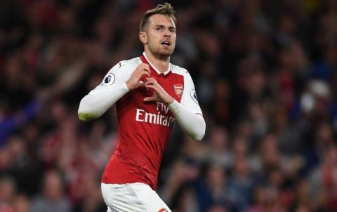 """Sút tung lưới CSKA Moscow phút 90+2, """"thần chết"""" Ramsey trở thành số 1 trong lịch sử Arsenal khiến cả TG phải run sợ"""