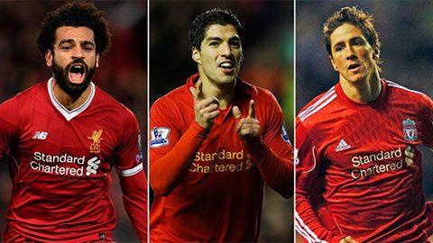"""TOP 10 cầu thủ ngoại quốc hay nhất lịch sử Liverpool: Bước tăng tốc thần thánh của """"Messi"""" Ai cập"""