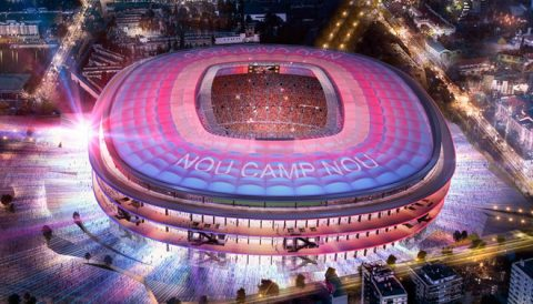 Barca biến Nou Camp thành kỳ quan thế giới với 600 triệu euro
