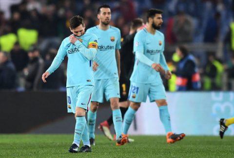 Ánh mắt bất lực, đáng thương của Messi khi Barca chia tay Champions League