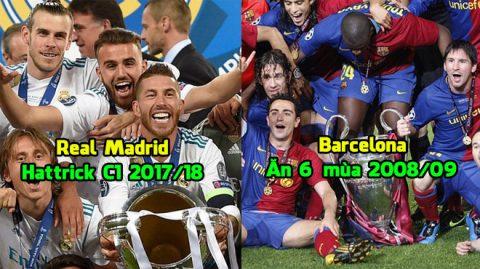 """Đọ siêu đội hình của Real 2018 với Barca """"ăn 6"""" 2009, đâu mới là kẻ mạnh hơn? Câu trả lời khiến tất cả bàng hoàng"""