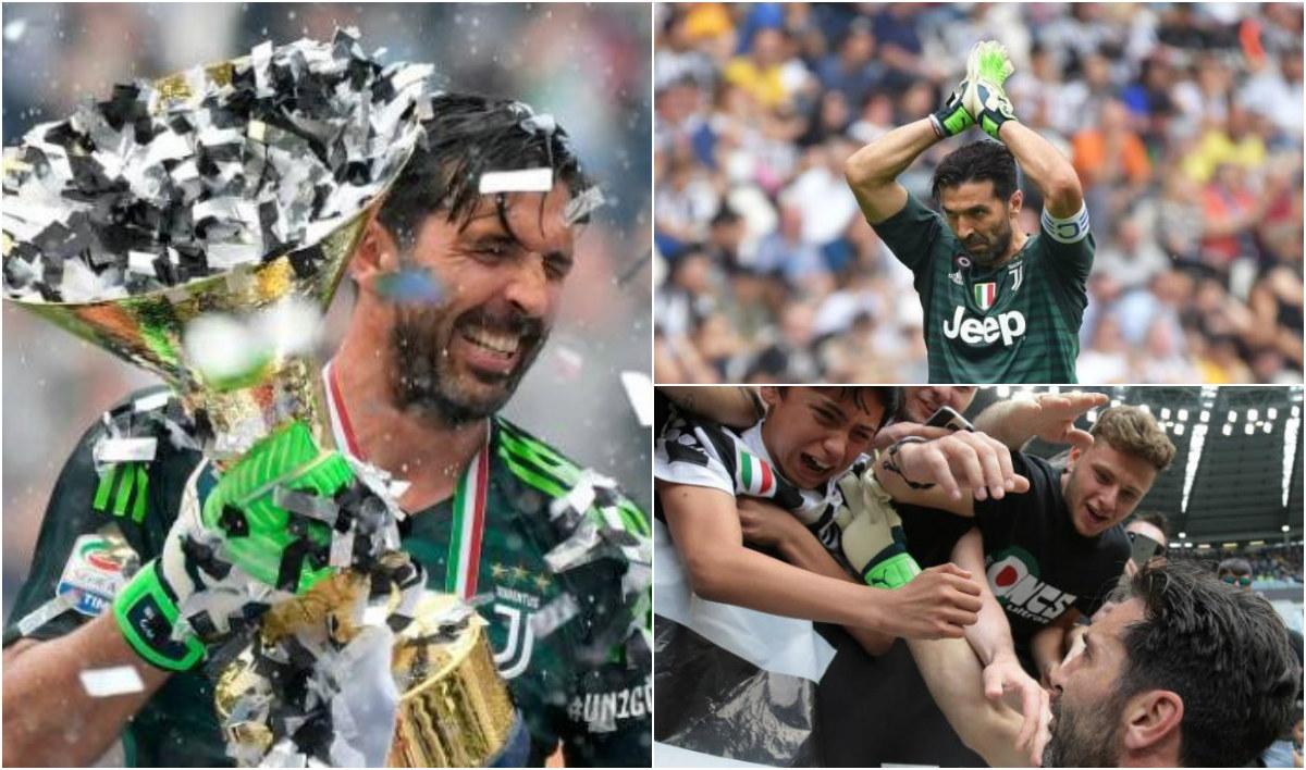 CHÙM ẢNH: Huyền thoại Buffon bật khóc như đứa trẻ trong ngày chia tay Juve khiến ...