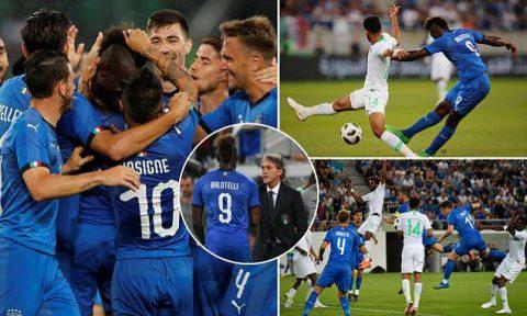 Balotelli ghi bàn đẳng cấp, Italia vớt vát danh dự trước Saudi Arabia