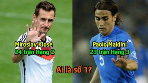 Top 5 huyền thoại ra sân nhiều nhất trong lịch sử World Cup: Ghi bàn nhiều nhất nhưng Klose vẫn xếp sau cái tên này!