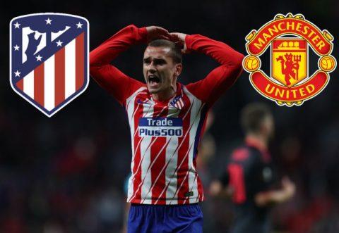 Atletico tìm cách đẩy Griezmann sang M.U