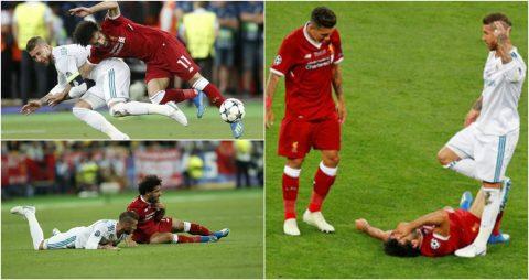 CẬN CẢNH: Pha triệt hạ như môn Judo của Ramos đối với Salah khiến cả TG phẫn nộ