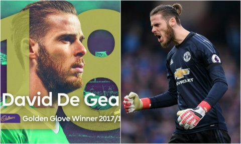"""Liên tục bị đồng đội """"bóp"""", De Gea vẫn xuất sắc vượt qua tất cả để giật giải thưởng danh giá đầu tiên trong sự nghiệp khiến triệu fan vỡ òa"""