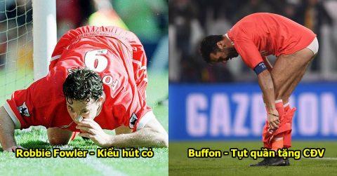 10 pha ăn mừng khó đỡ nhất lịch sử bóng đá: Choáng với hành động của Buffon