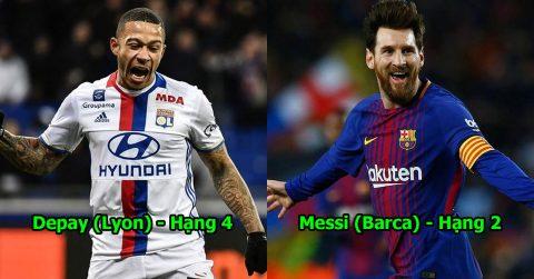 """TOP 10 siêu sao ghi bàn giỏi, kiến tạo hay nhất mùa này: """"Hàng thải"""" MU lột xác ngoạn mục, Messi đã không còn vô đối"""