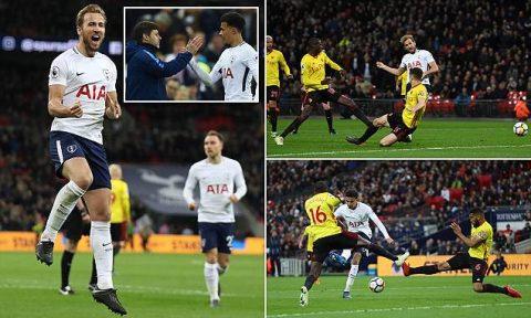 Diệt gọn Watford, Tottenham khiến cuộc đua top 4 thêm phần nóng bỏng