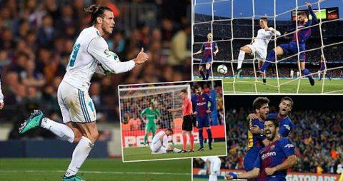 """Kết quả Barca – Real: Nou Camp hóa """"võ đài"""", thẻ đỏ và thế trận kịch tính đến nghẹt thở"""