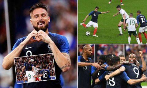 Dễ dàng đánh bại đối thủ khó chịu CH Ireland, Pháp chứng tỏ sức mạnh vượt trội