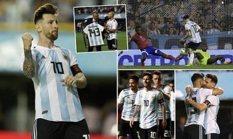 Messi lập hattrick đẳng cấp, Argentina vùi dập đối thủ không thương tiếc, gửi lời thách thức tới World Cup 2018