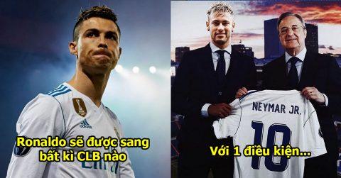 Không còn mặn mà với siêu sao số 1, Real sẵn sàng đẩy Ronaldo ra đi ngay và luôn với 1 điều kiện