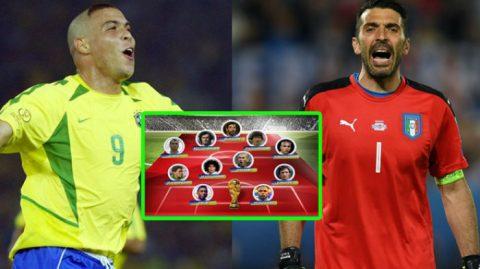 Đội hình xuất sắc nhất lịch sử các kì World Cup: Hoàn hảo thế này bảo sao Ronaldinho và Messi cũng không có cửa góp mặt!