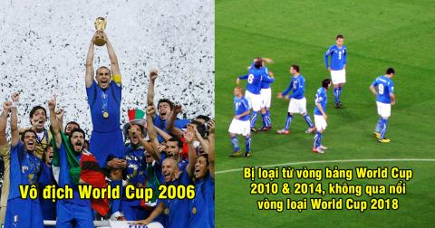 Số phận nghiệt ngã của 4 nhà vô địch World Cup ở thế kỷ 21: Italia xuống dốc quá thảm hại so với 12 năm trước